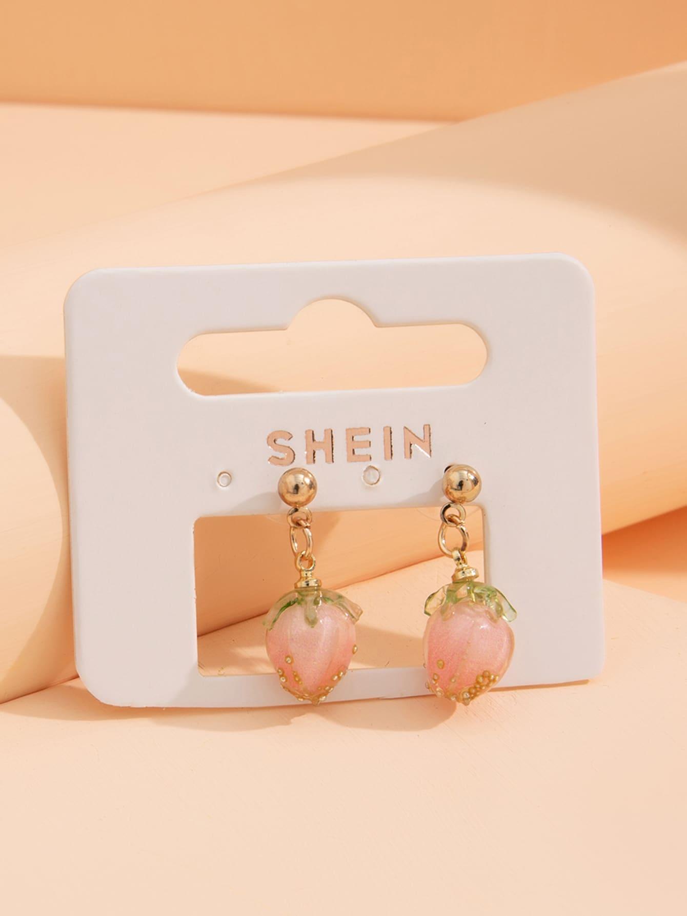Strawberry Design Earrings thumbnail