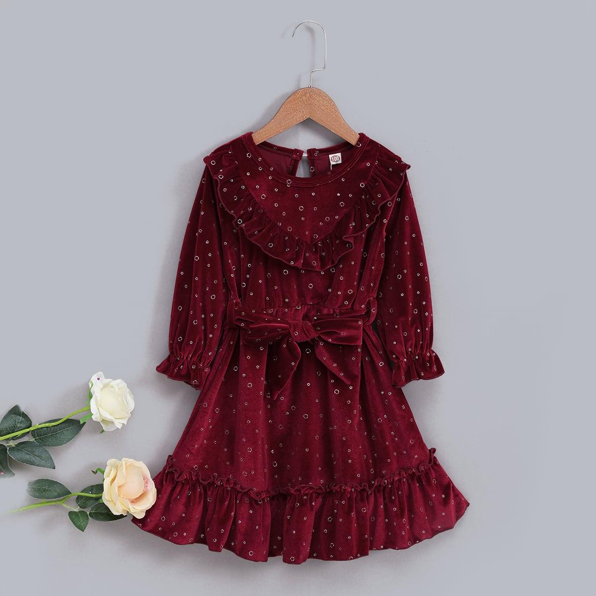 На пуговицах графический принт очаровательный платья для девочек