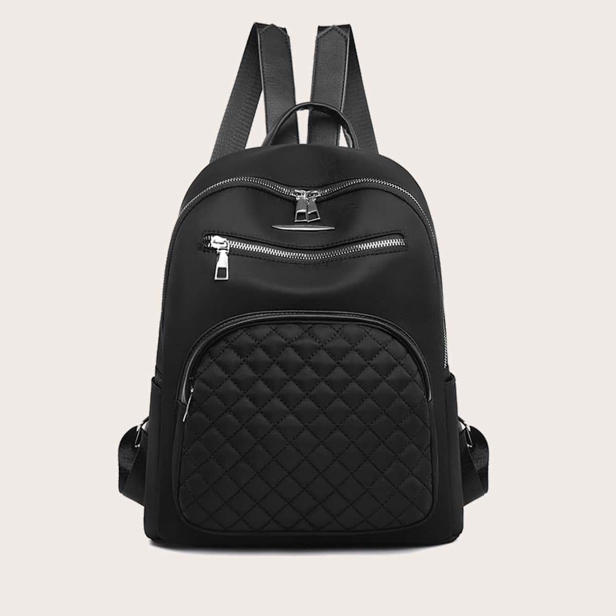 Стеганый рюкзак с молнией