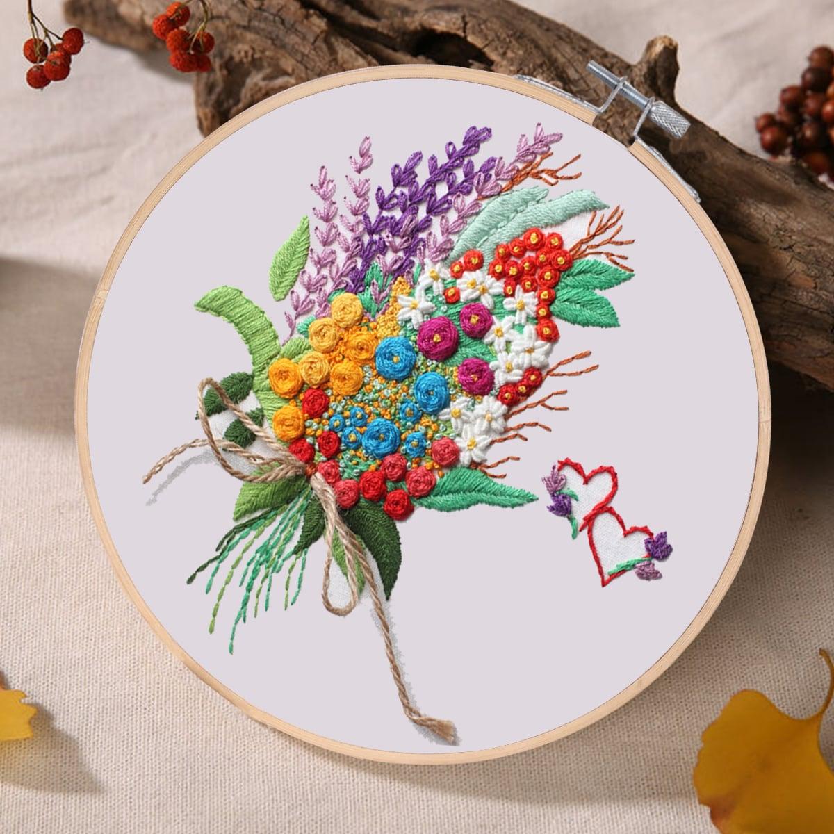 Вышивка крестиком с цветочным рисунком