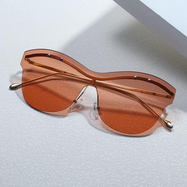 Structured Rimless Sunglasses