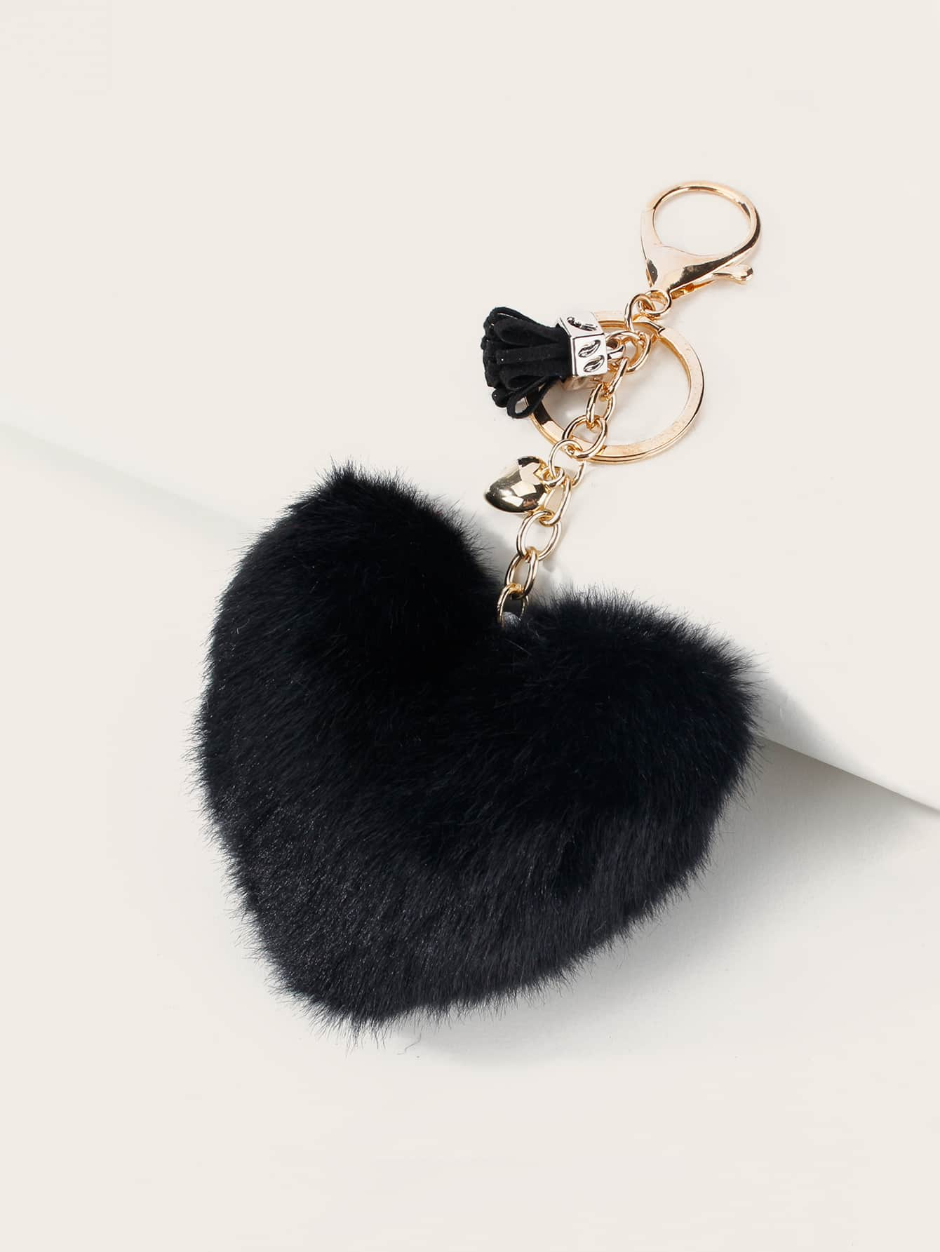 Fluffy Heart Design Bag Charm thumbnail