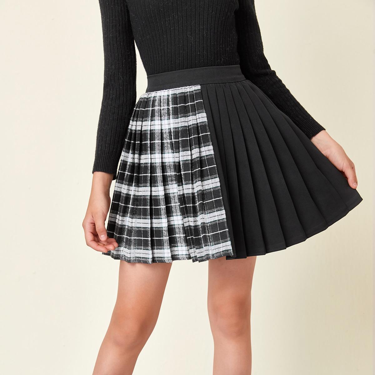 На молнии шотландка институтский юбки для девочек