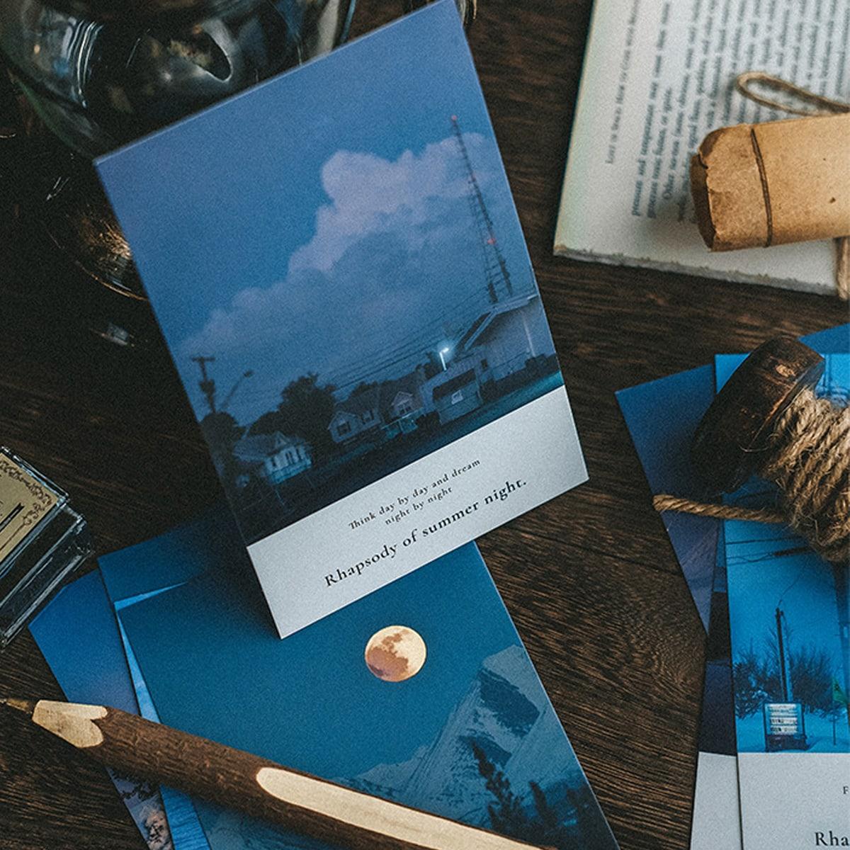 30sheets Scenery Pattern Postcard