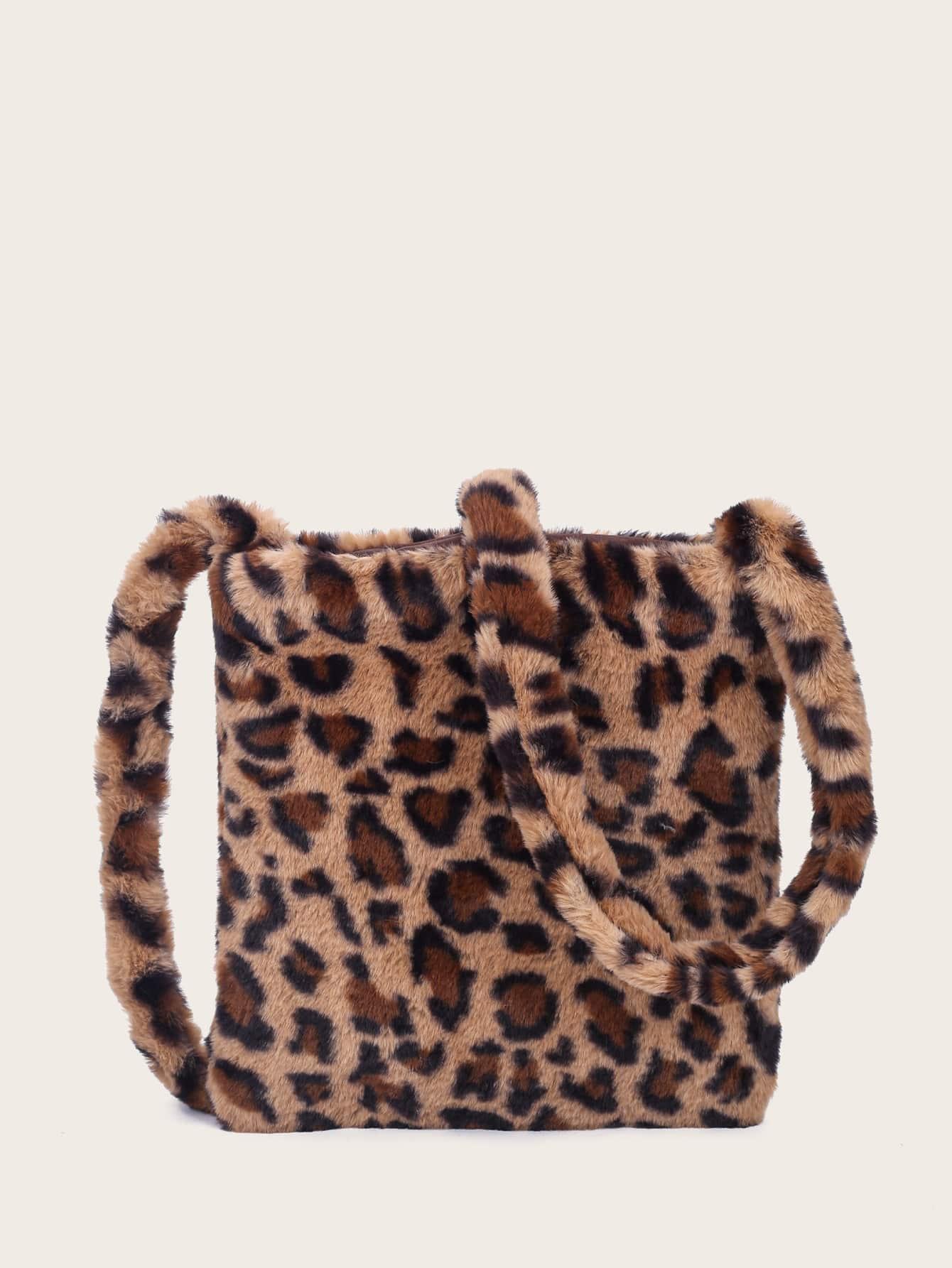 Leopard Fluffy Crossbody Bag thumbnail