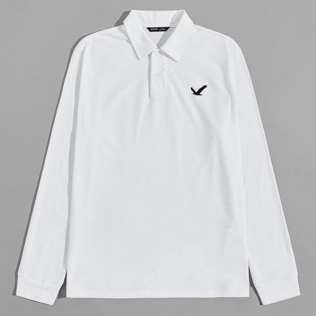 Мужская рубашка-поло с принтом орла
