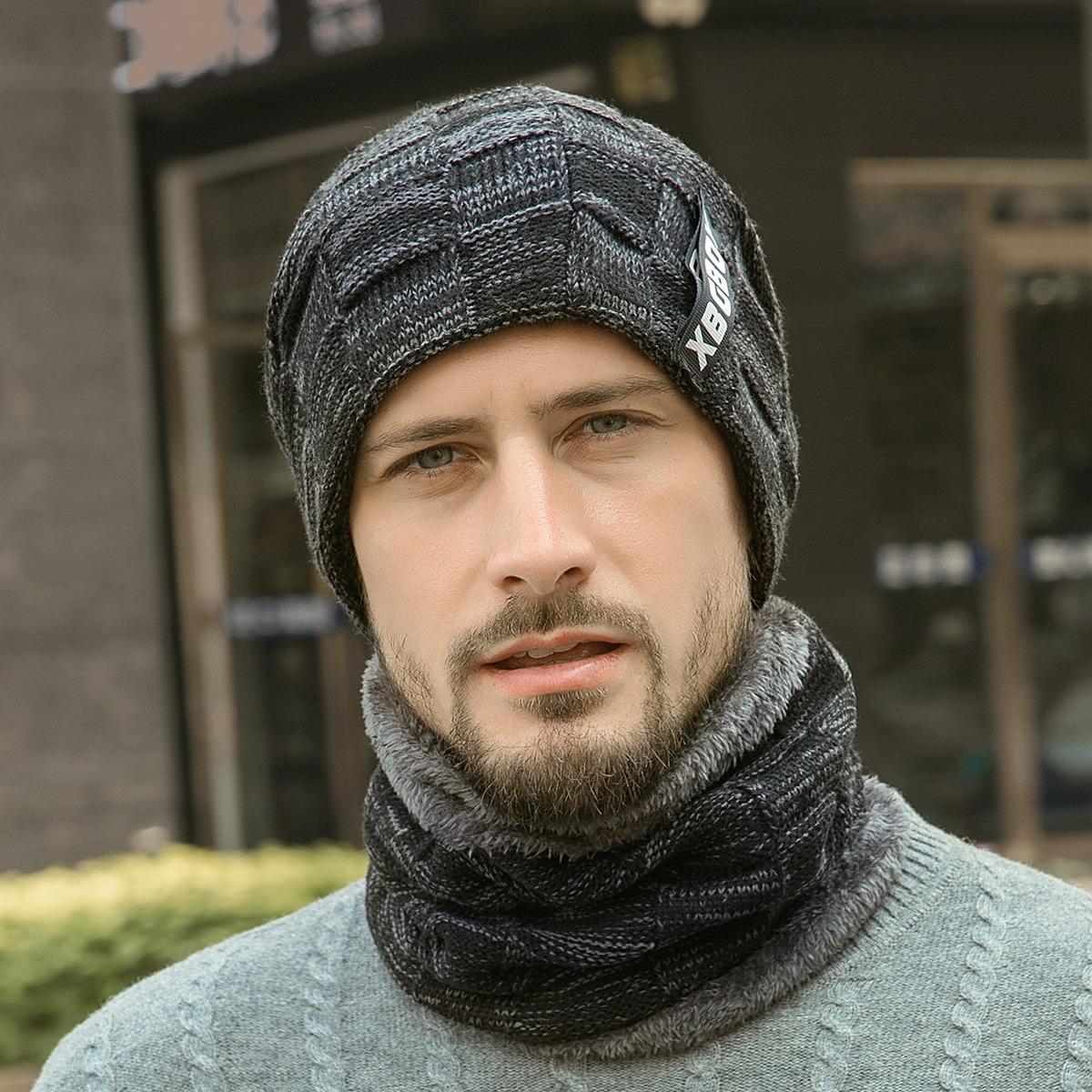 Männer Hut mit Buchstabn Grafik, Etikette Dekor & Schal