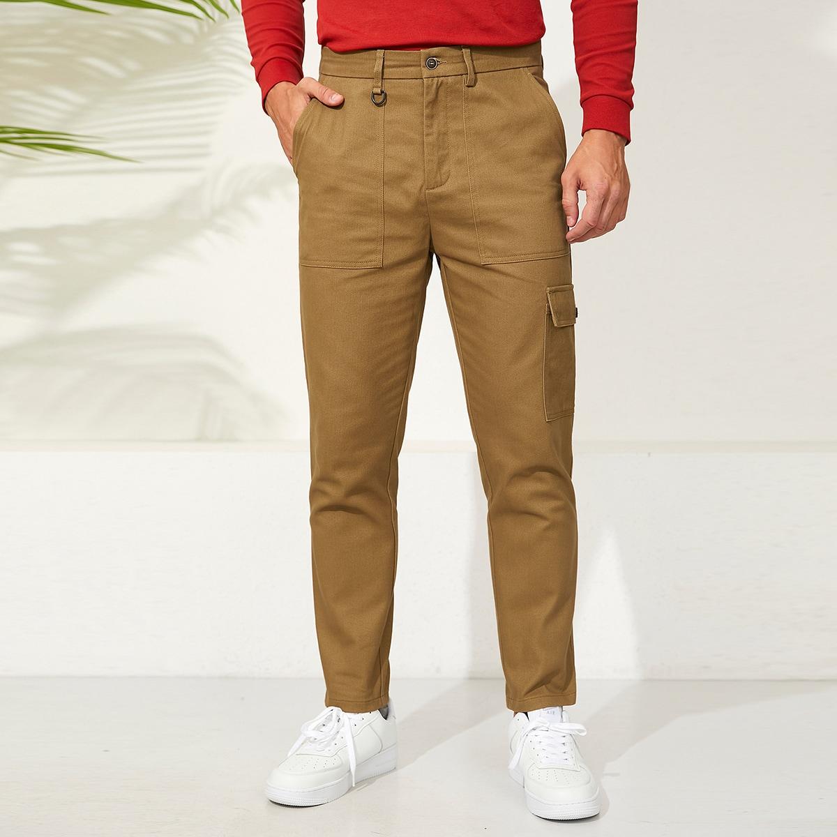 Пугавица одноцветный институтский мужские брюки