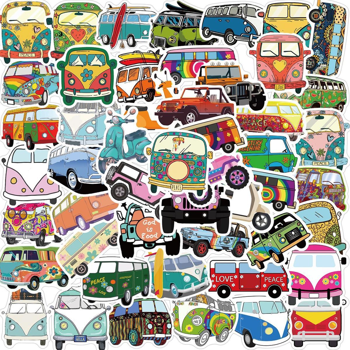 50pcs Bus Print Sticker