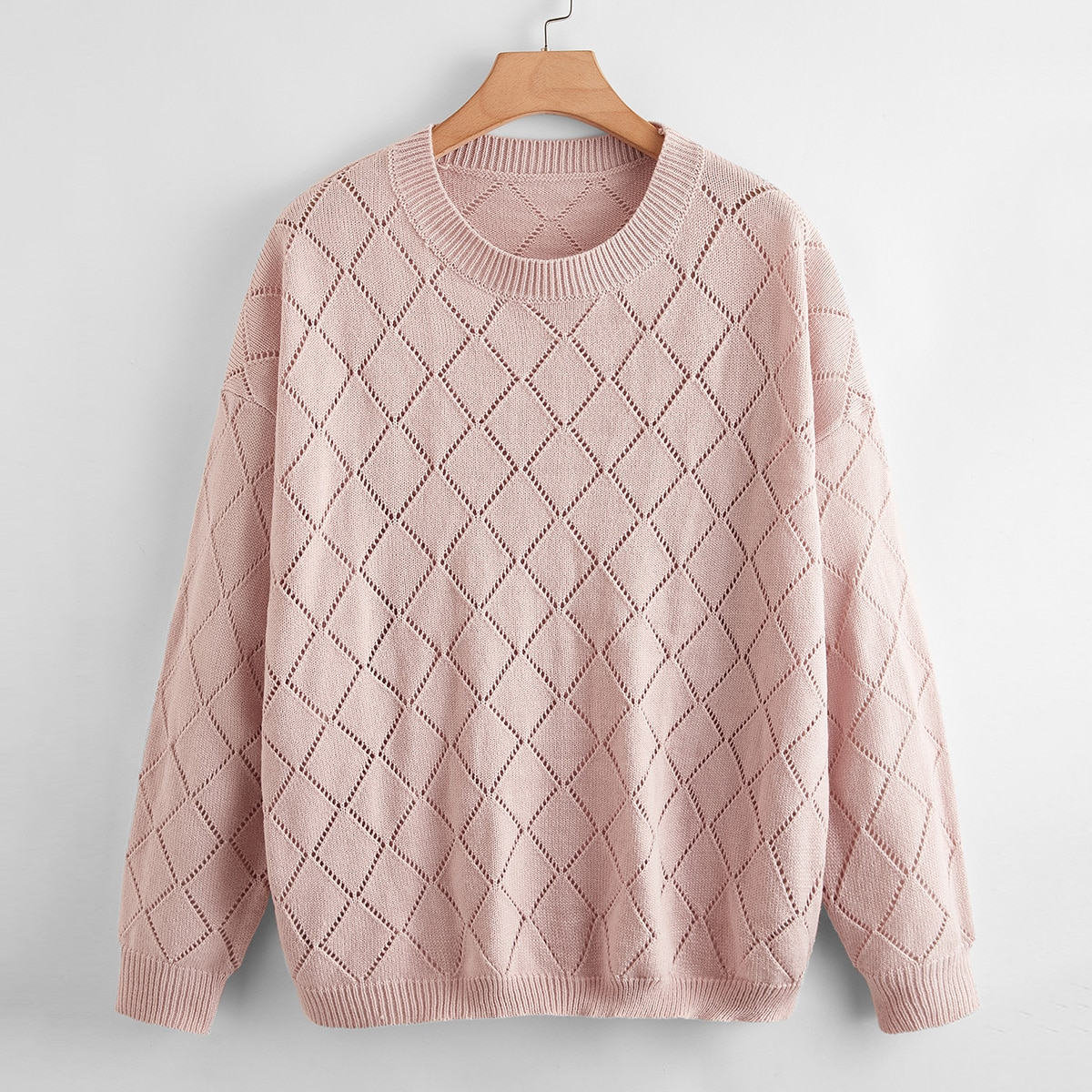 Вязаный свитер размера плюс