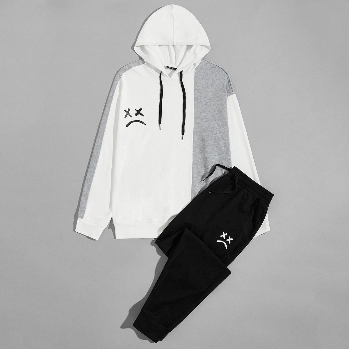 Мужские спортивные брюки и толстовка с мультипликационным рисунком