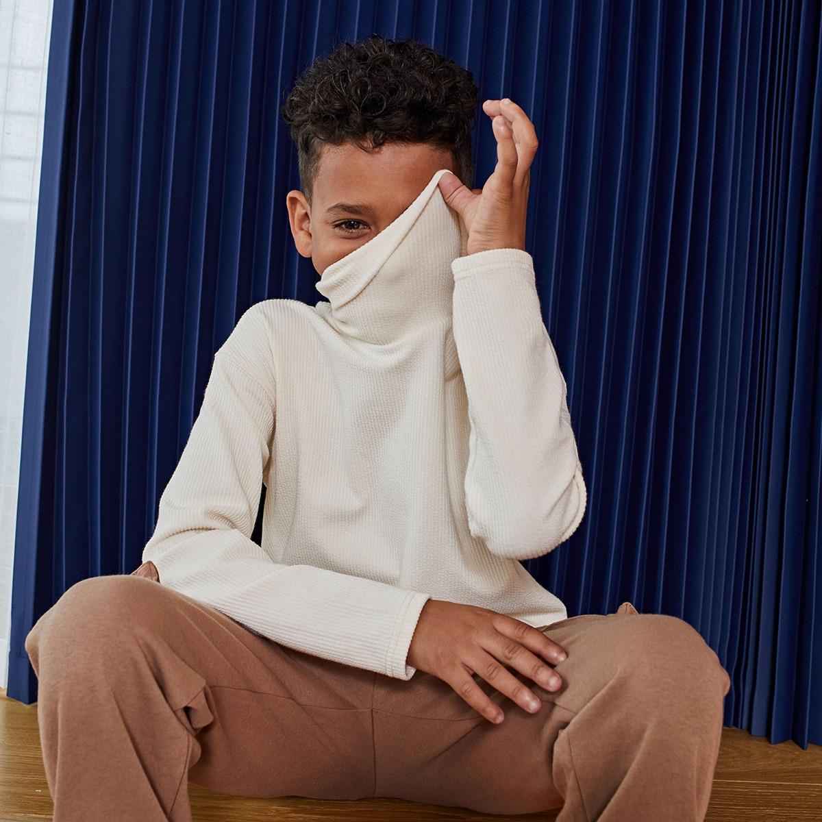 Шнуровка одноцветный повседневный футболки для мальчиков
