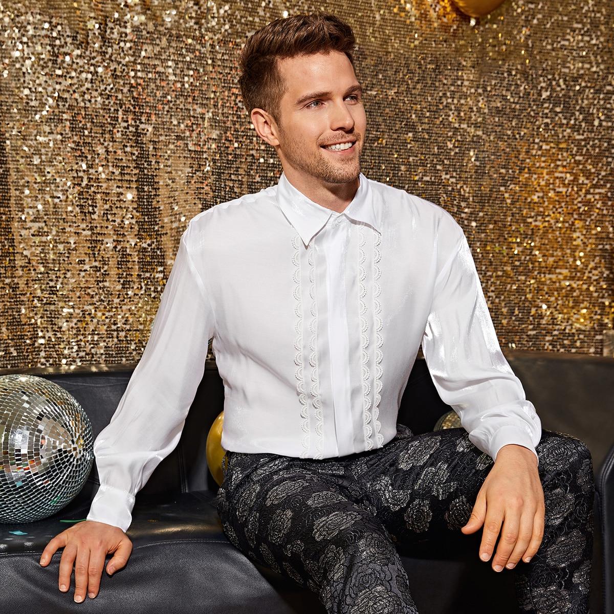 Мужская рубашка с кружевом