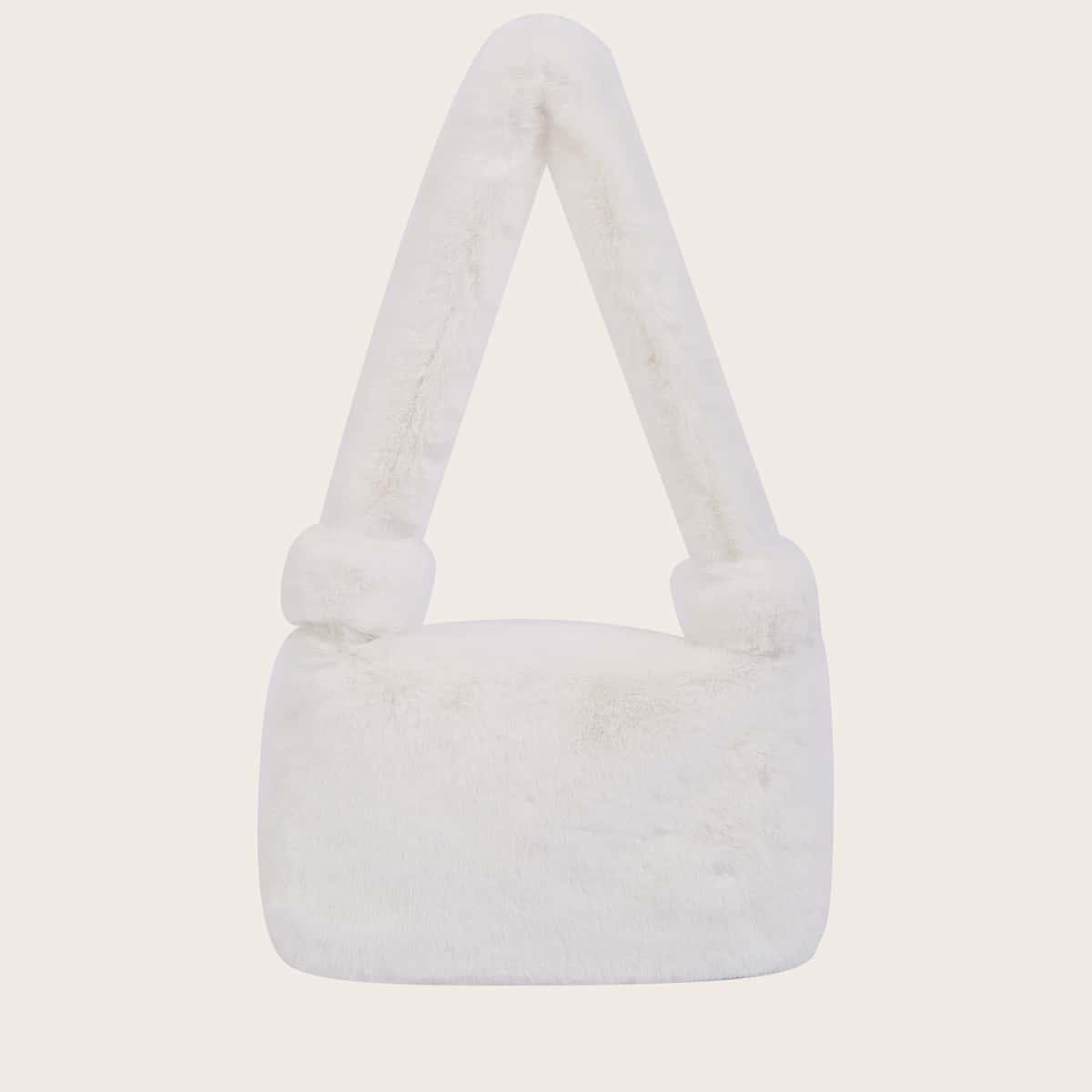 Сумка на плечо из искусственного меха