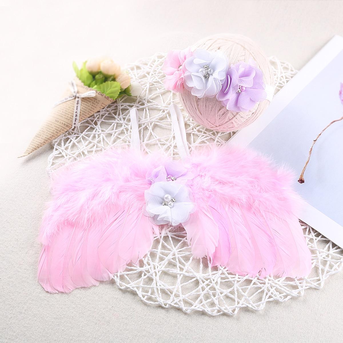 Newborn Foto-Outfit mit Flügel & Haarband