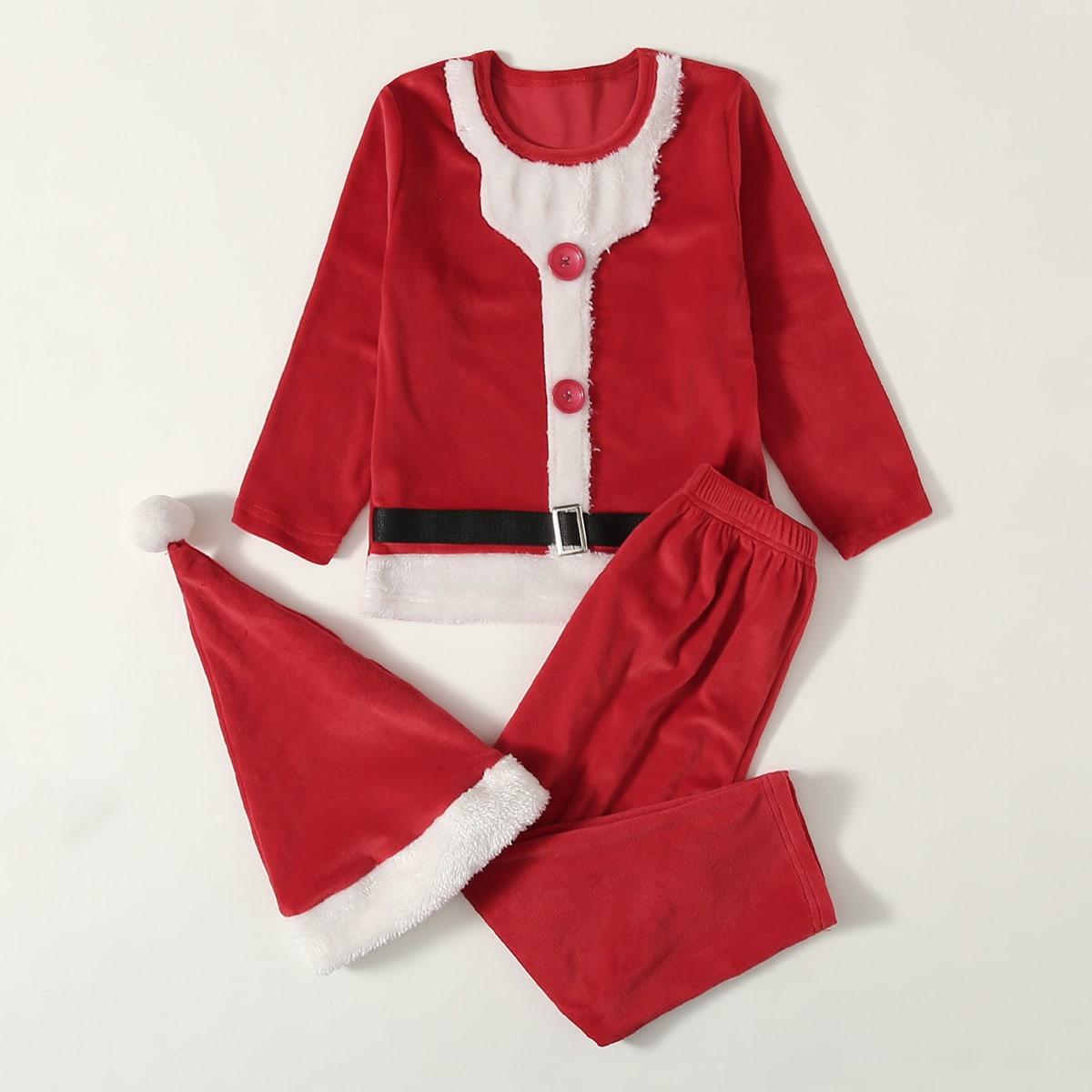 Рождество пижама косплея для девочек