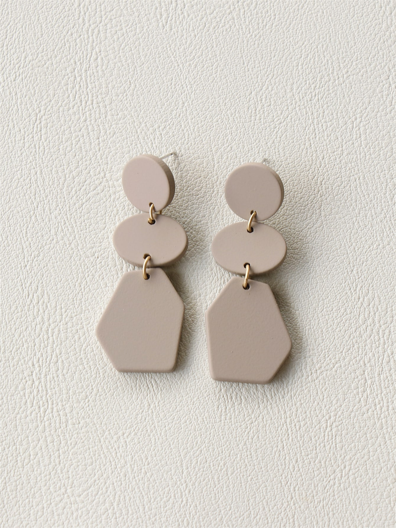 Plain Geo Drop Earrings thumbnail