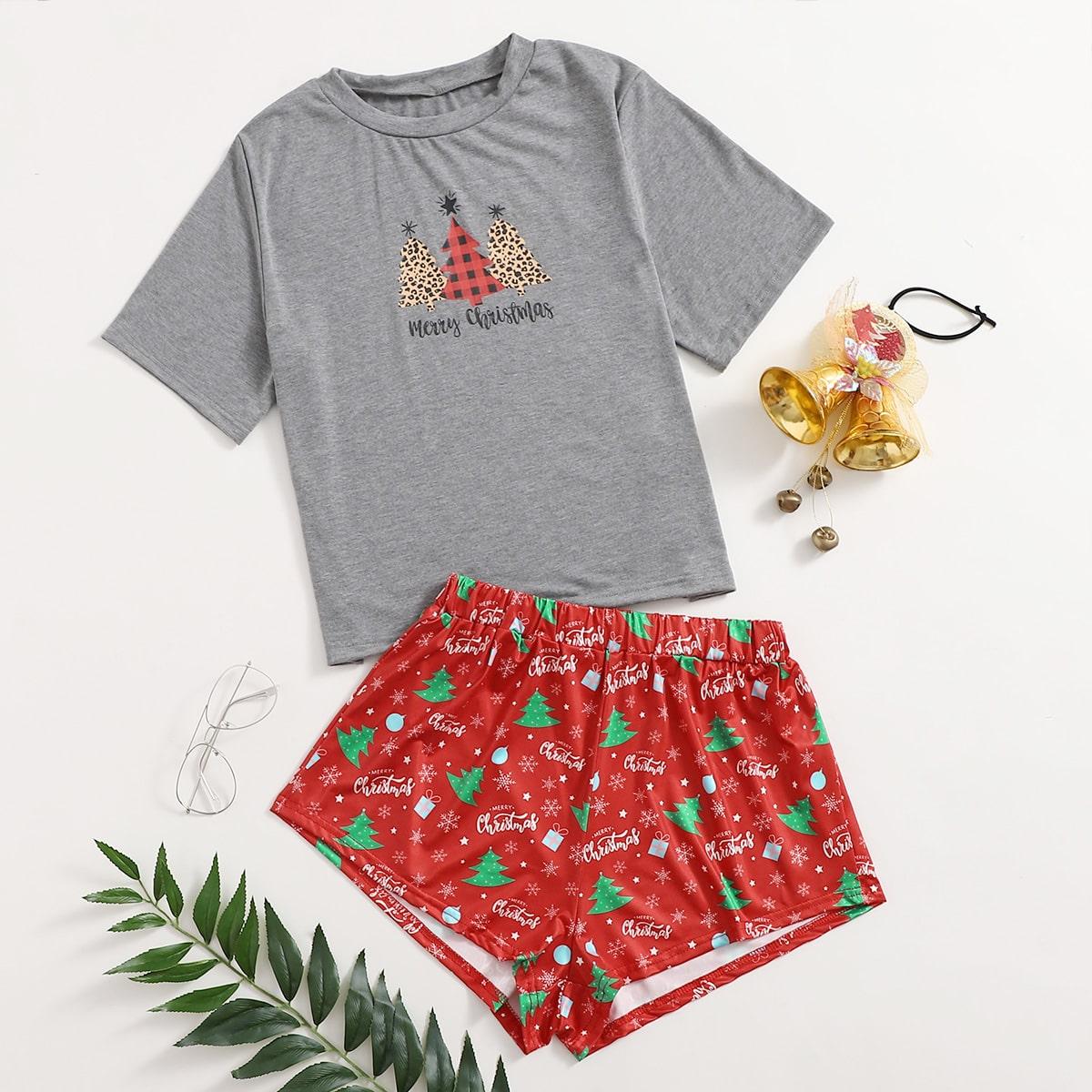 """Пижама с принтом """"рождество"""