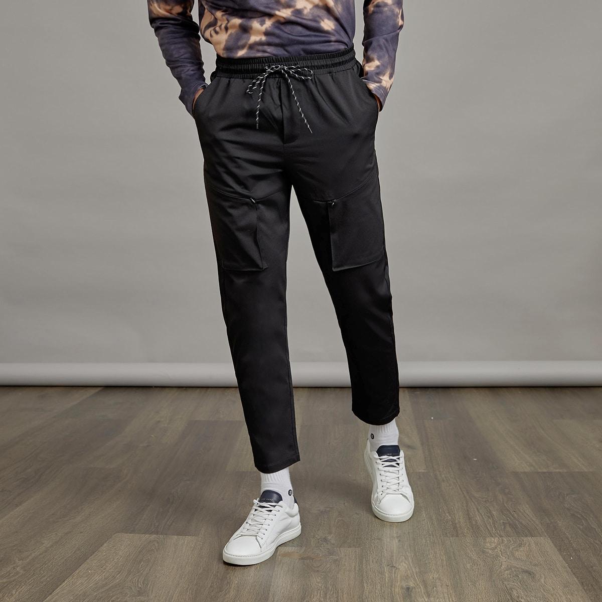 Мужские брюки с карманом на кулиске
