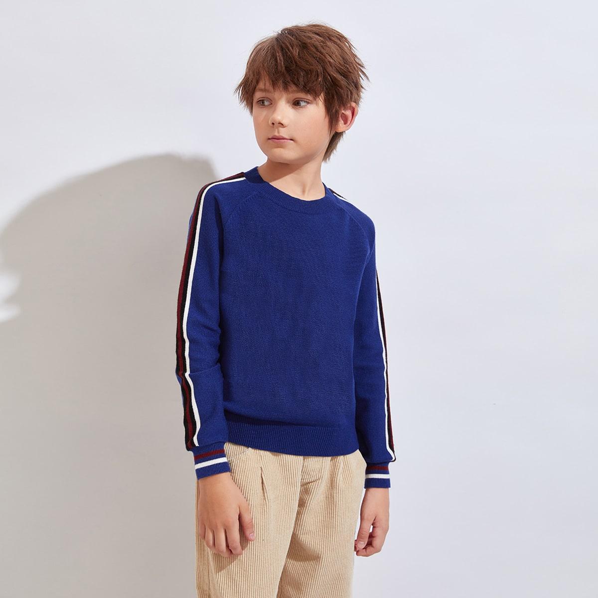 Свитер с рукавом-регланом и полосками для мальчиков