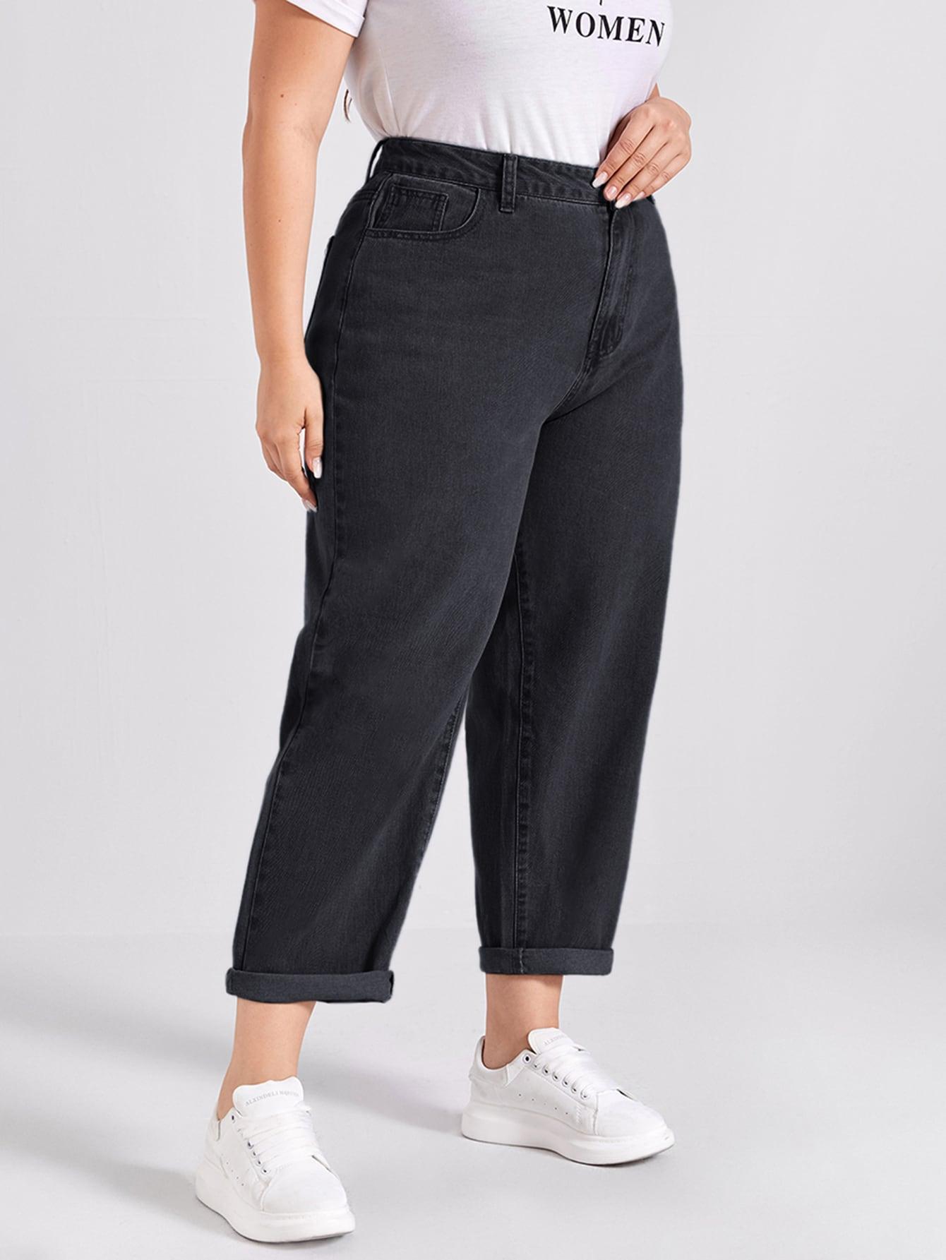 Plus Light Wash Slant Pocket Jeans thumbnail