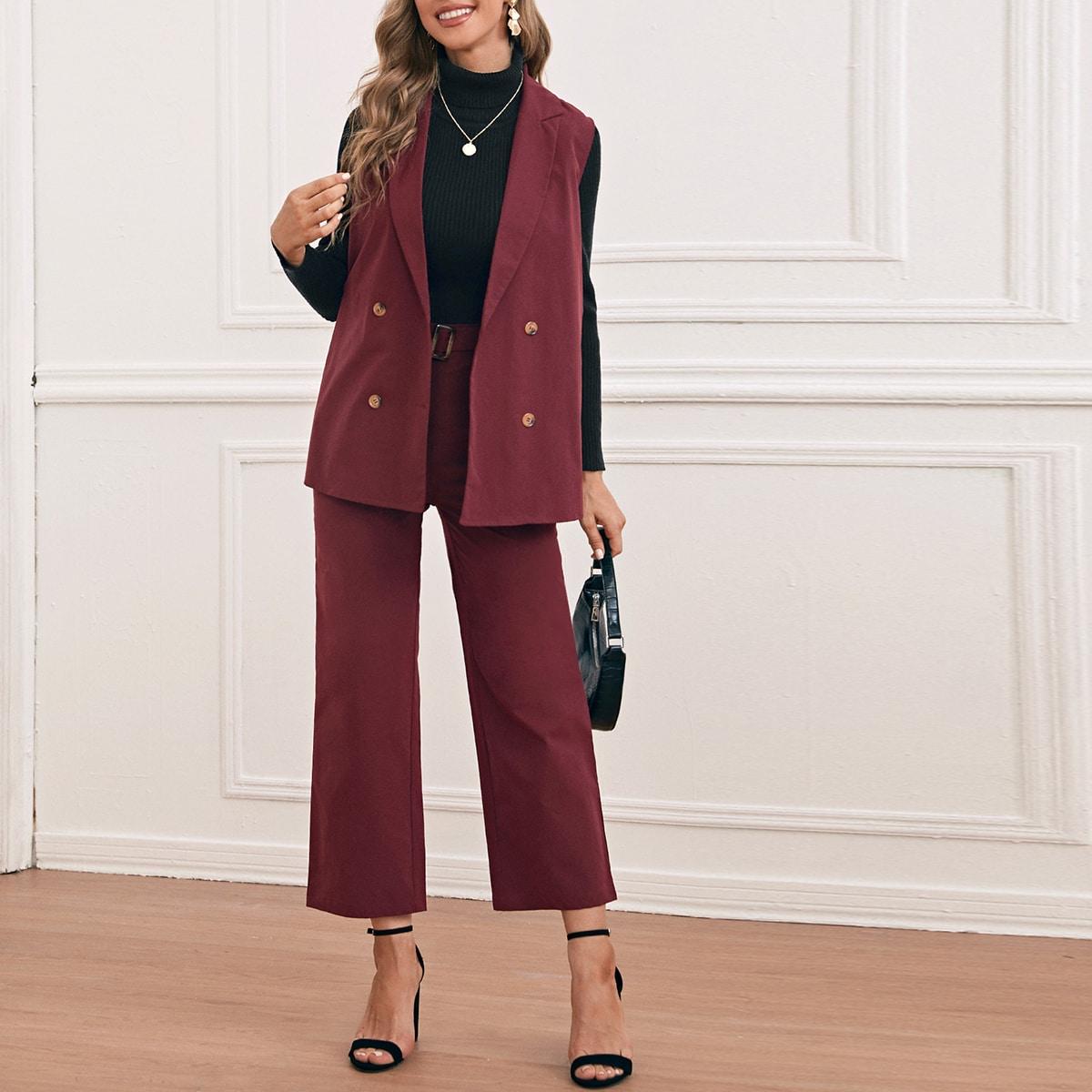 Пиджак-жилет с пуговицами и брюки