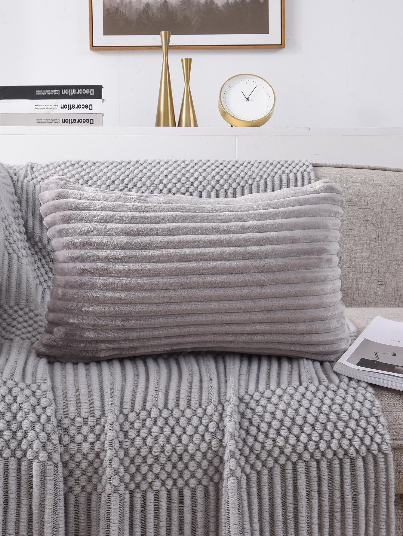 Solid Color Lumbar Pillow Without Filler Shein Uk