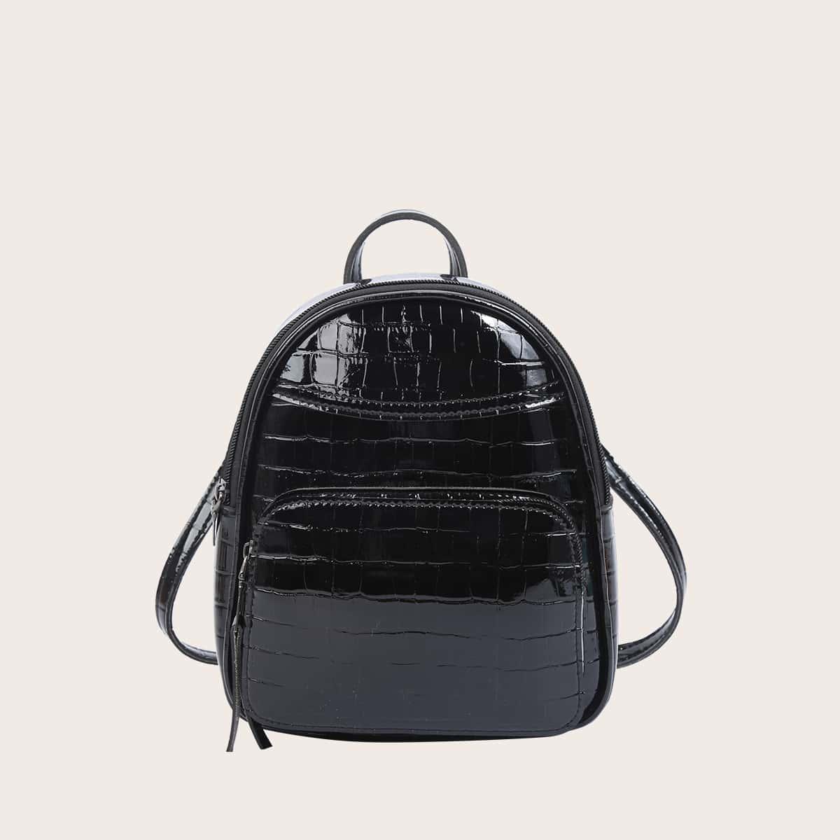 Рюкзак с крокодиловым тиснением