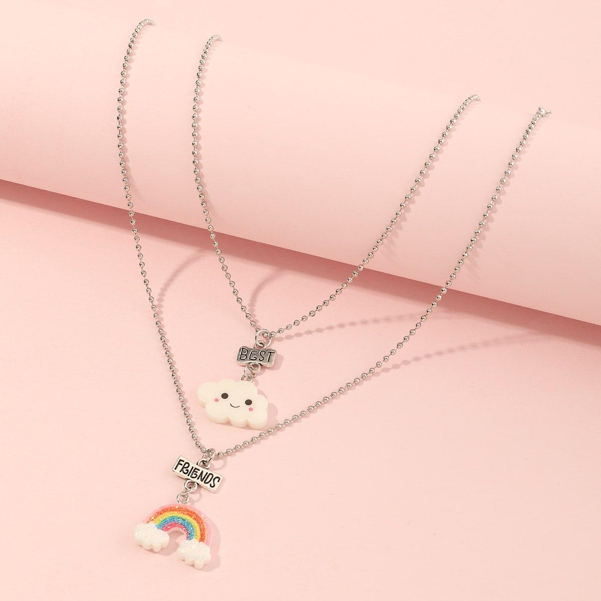 2шт ожерелье с облаком для девочек