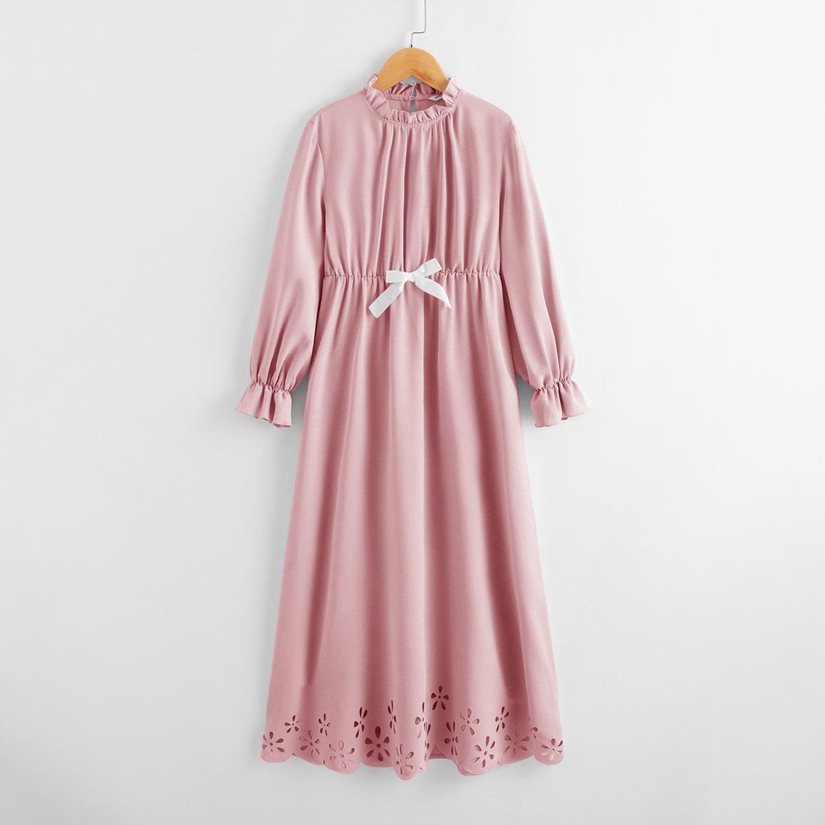 Ночная рубашка с узлом и оборкой для девочек