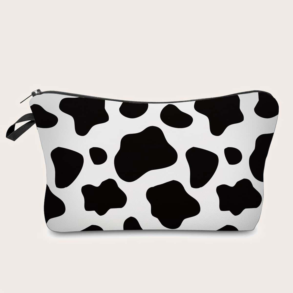 Косметичка с коровьим принтом