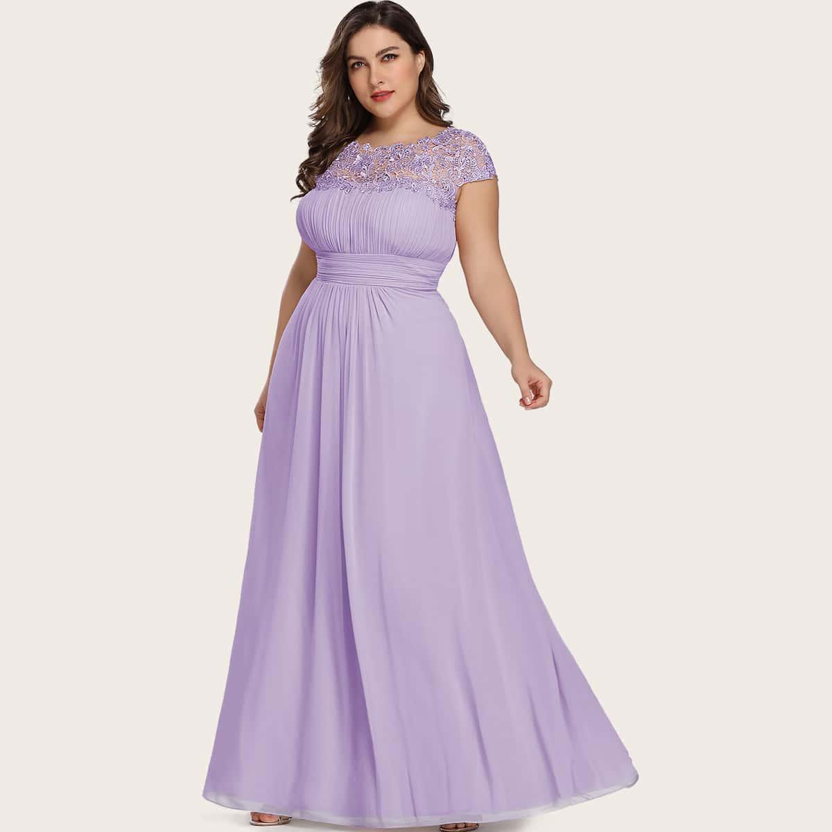 Полый Одноцветный Очаровательный Платья размер плюс