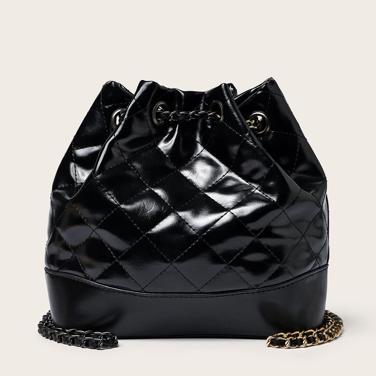 Стеганый рюкзак на кулиске