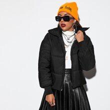 Zip Up Hooded Puffer Jacket