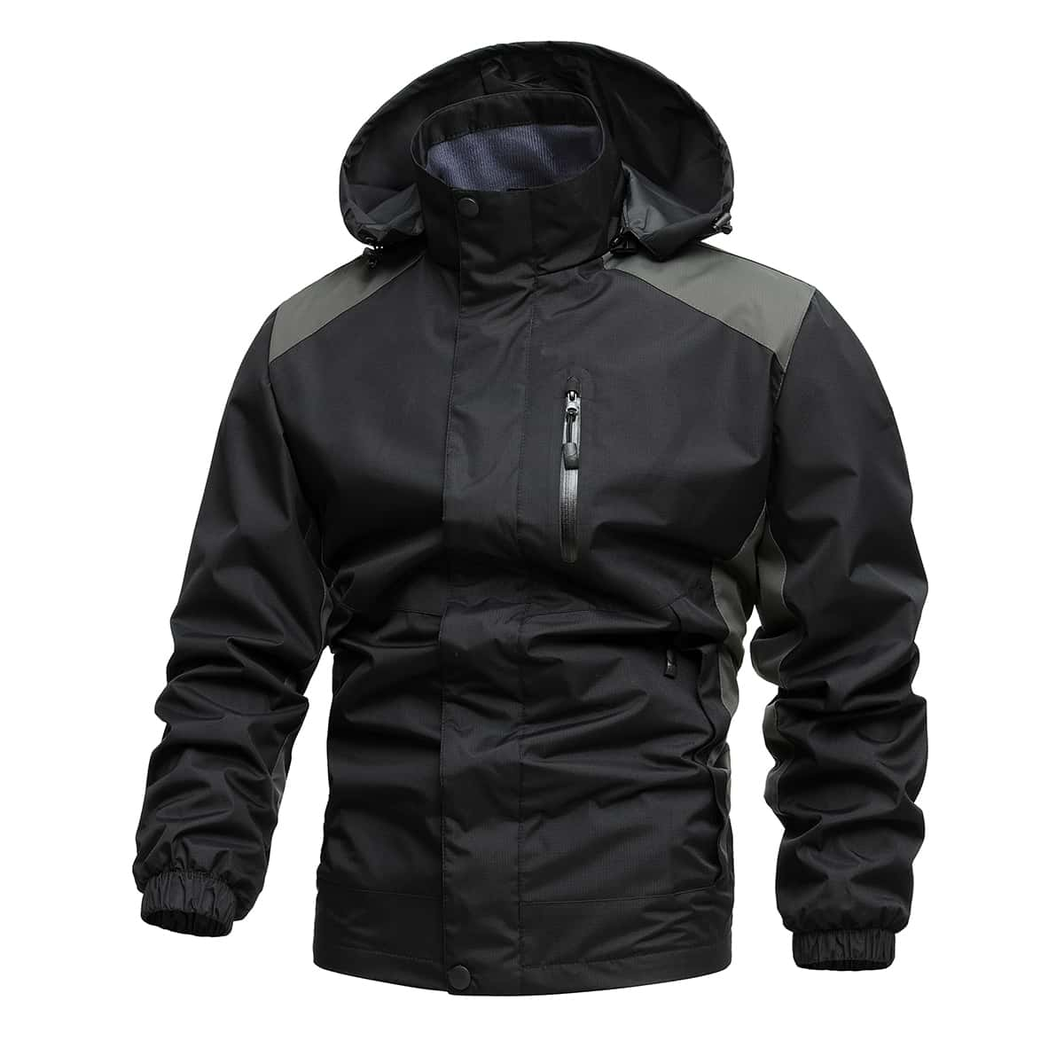 Men Zip Up Hooded Jacket