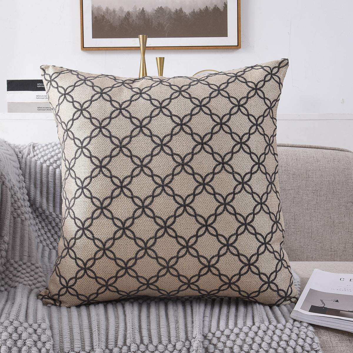 Kissenbezug mit geometrischem Muster ohne Fülle