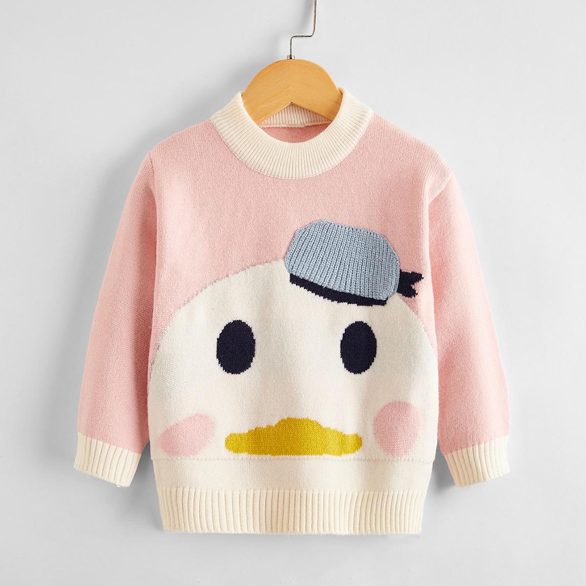 С карикатурой повседневный свитеры для девочек