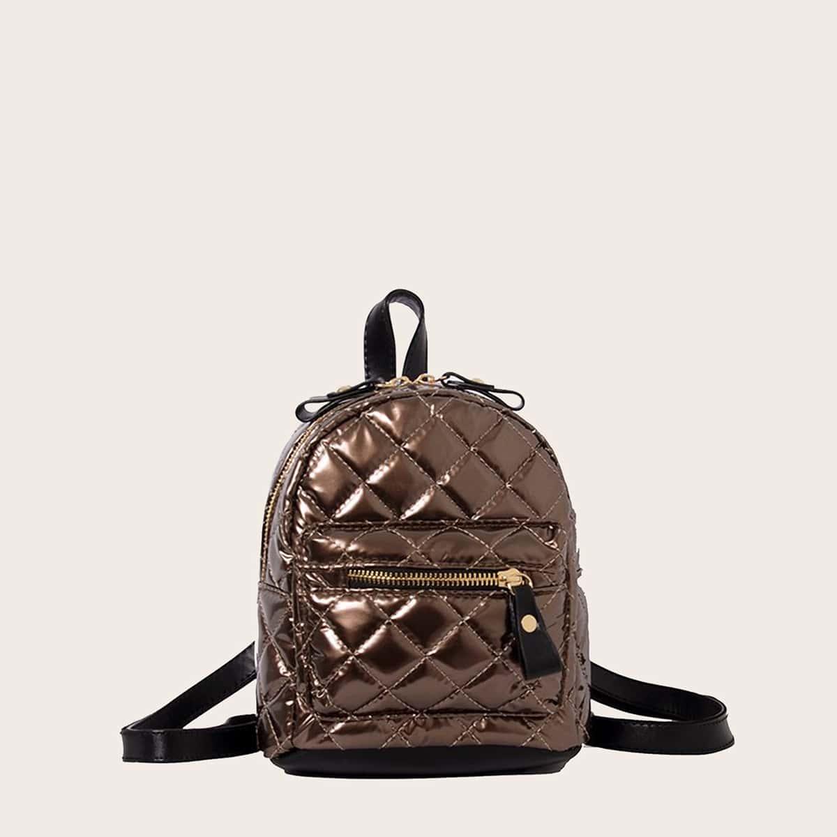 Металлический стеганый рюкзак