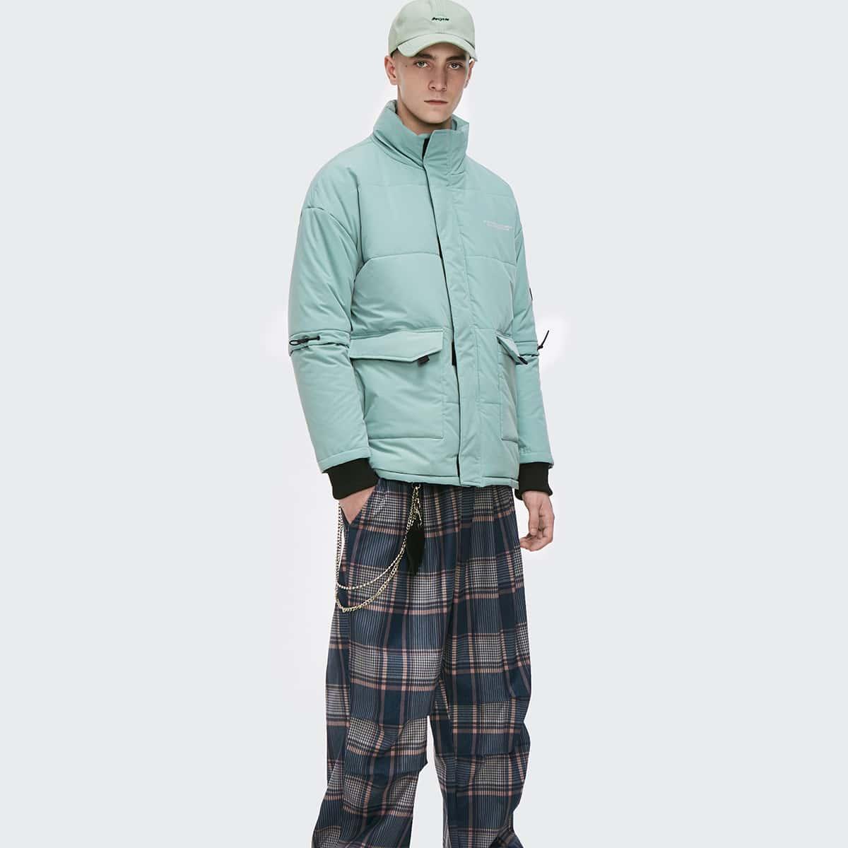Мужская стеганая куртка с карманом