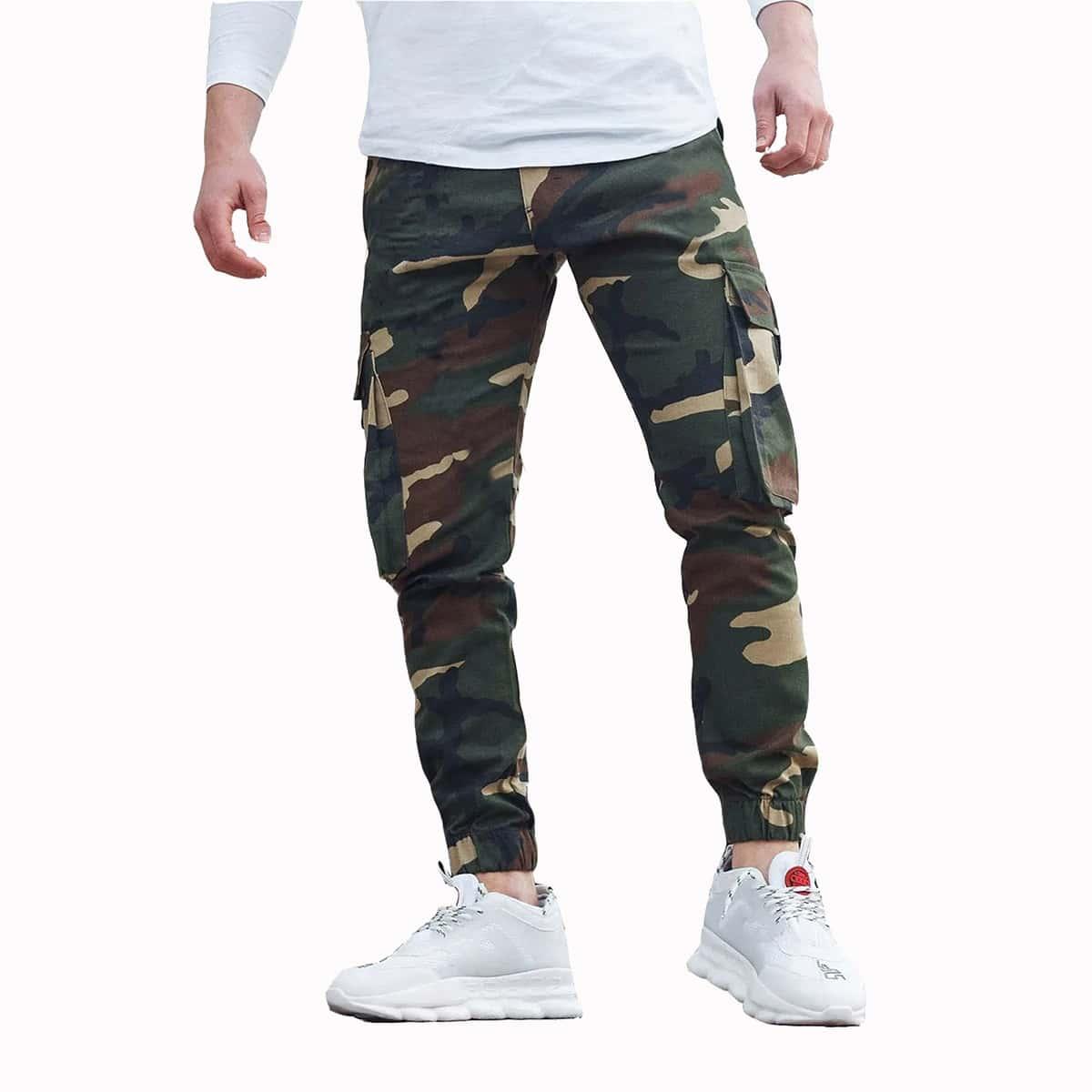 Карман камуфляж улица мужские джинсы