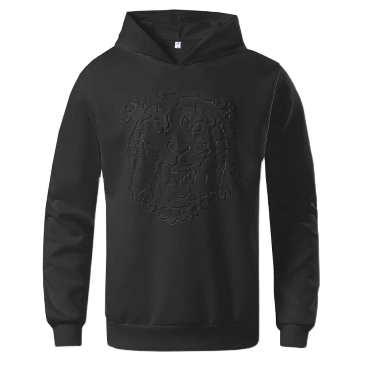 Men Solid Hooded Sweatshirt