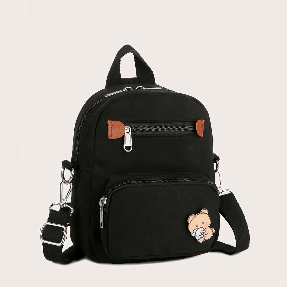 Рюкзак на молнии с мультипликационным рисунком