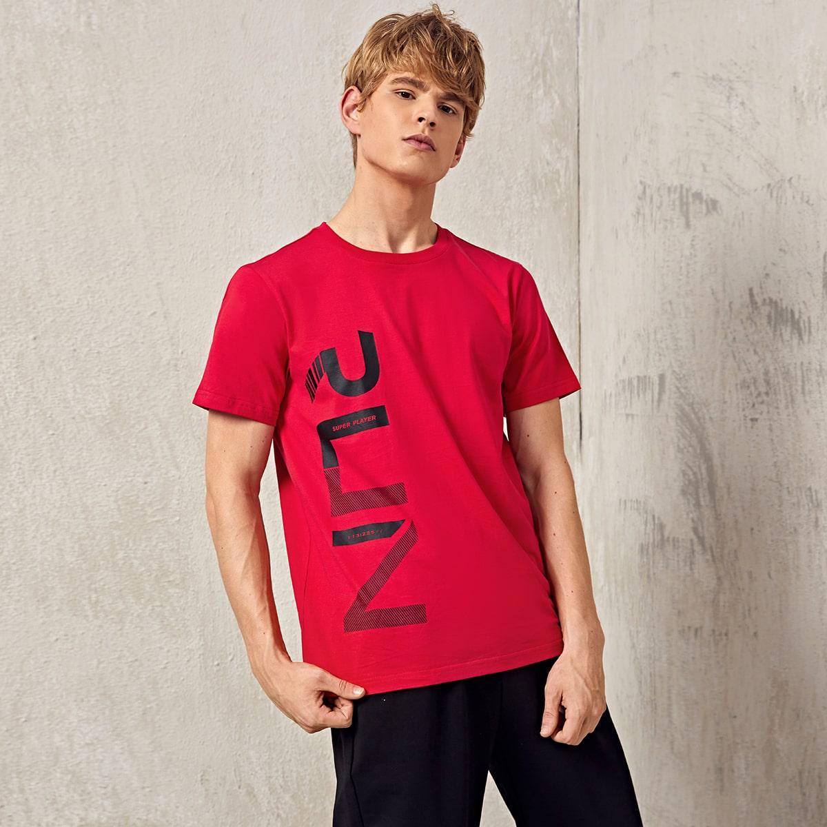 Мужская спортивная футболка с монограммой