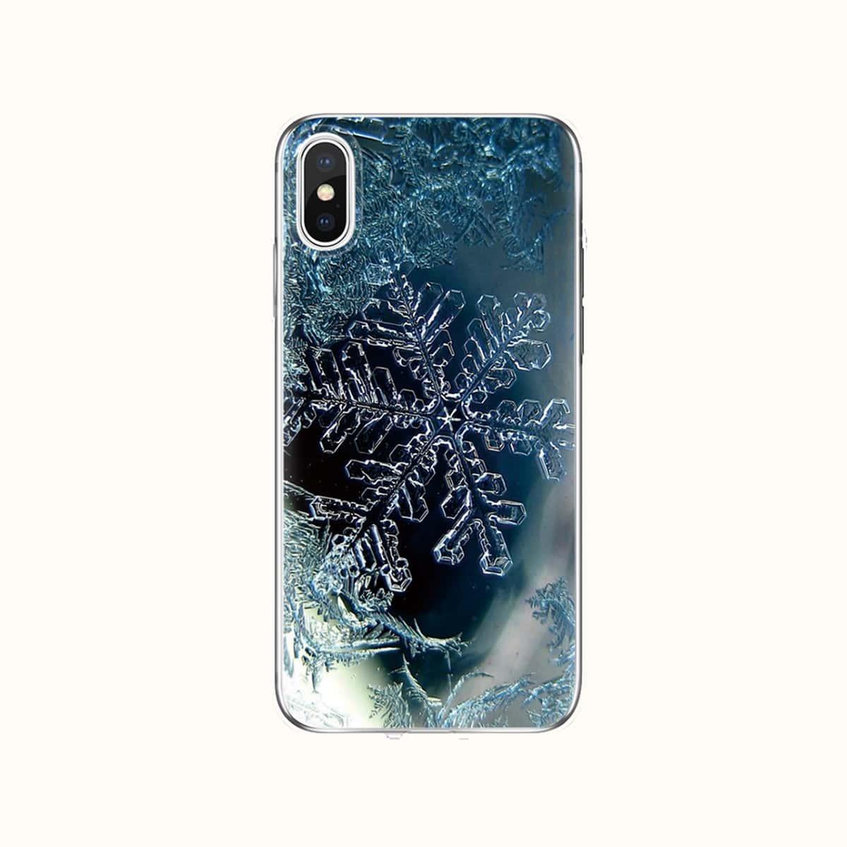 Weihnachten Handyetui mit Schneeflocke Muster