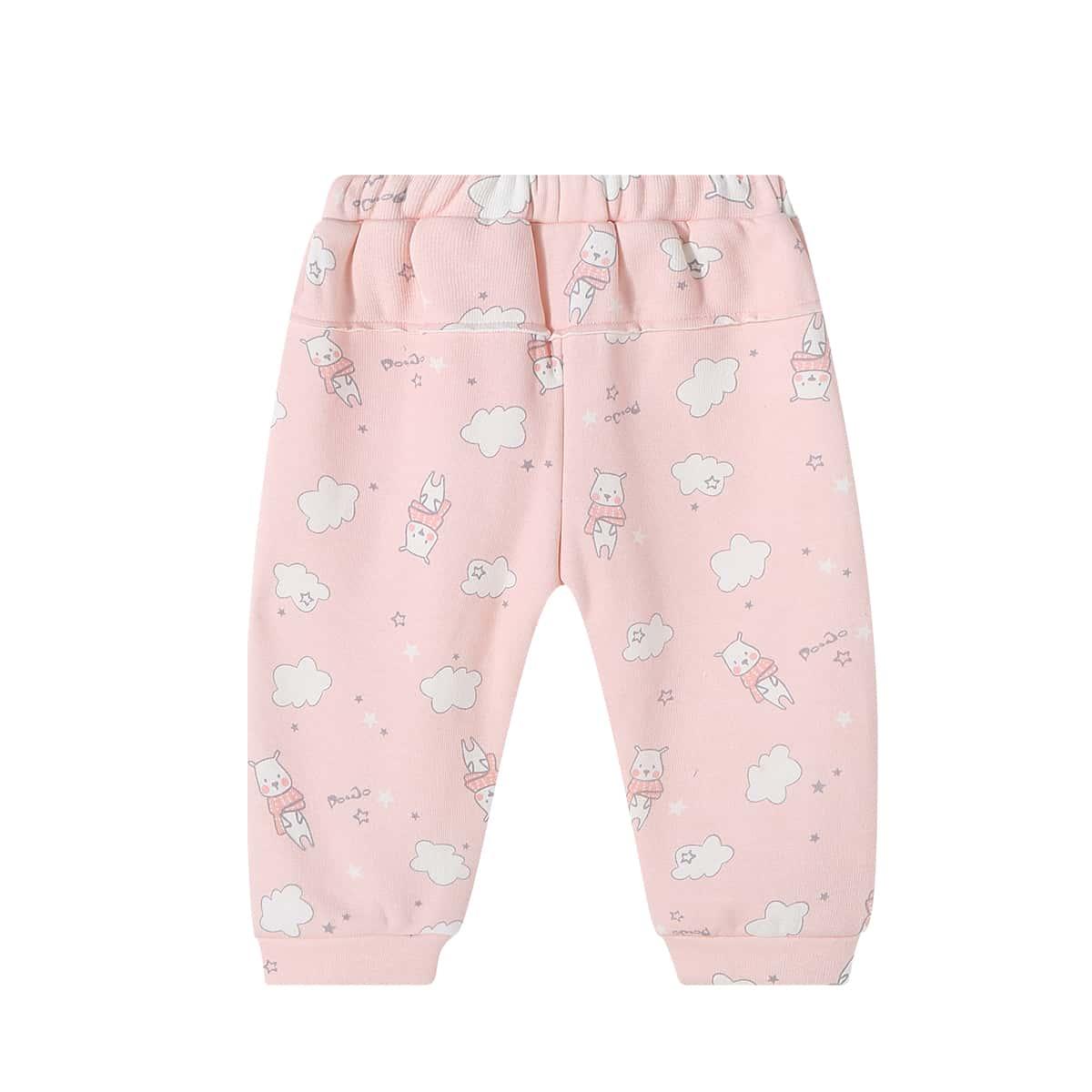 Лента мультяшный принт повседневный брюки для маленьких девочек