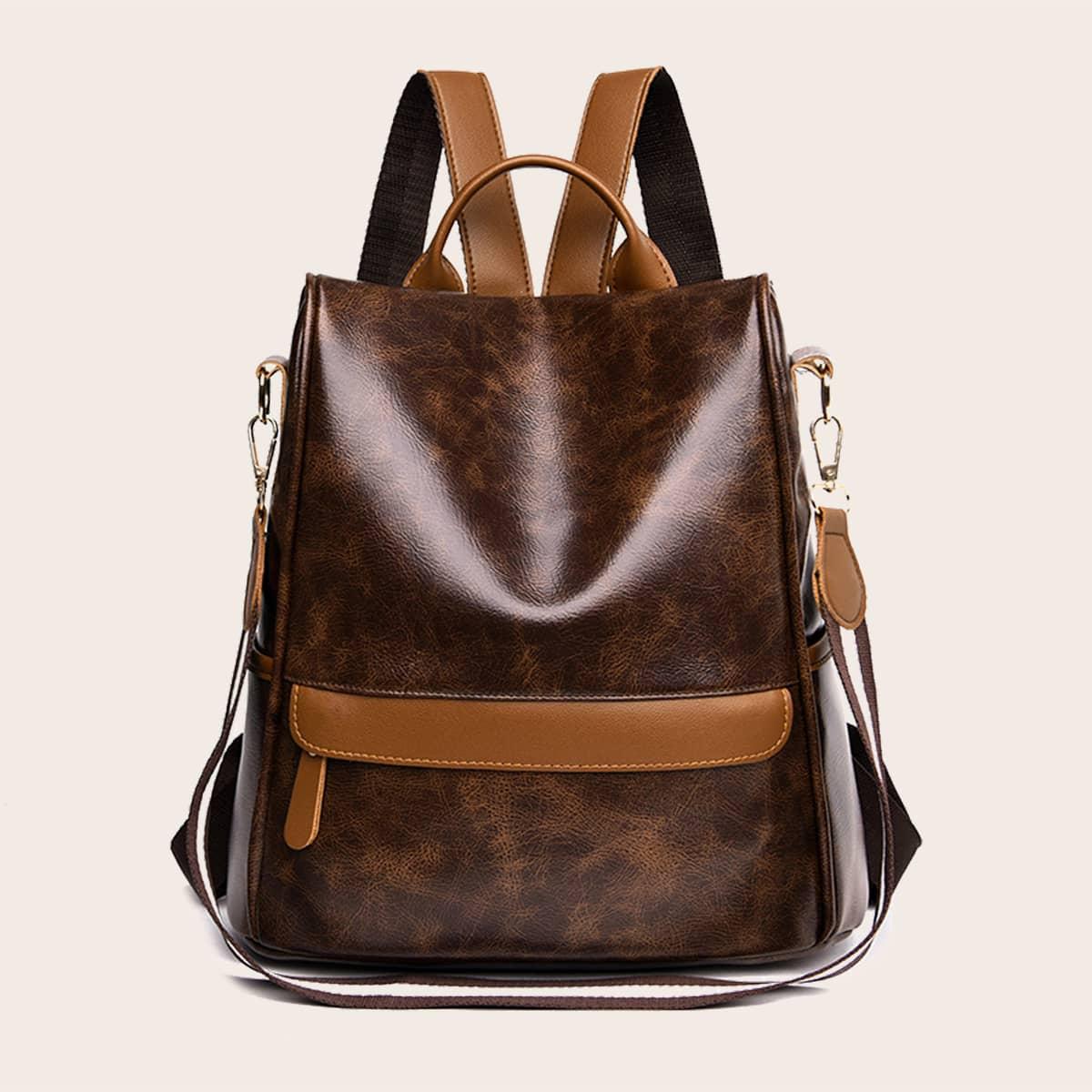 Рюкзак с молнией и со съемным ремешком