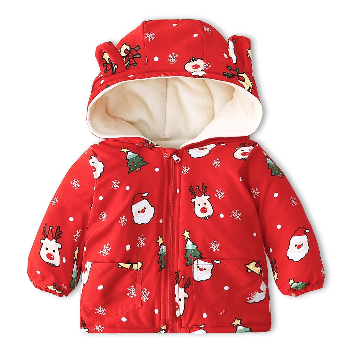 На молнии рождество милый пальто для маленьких мальчиков