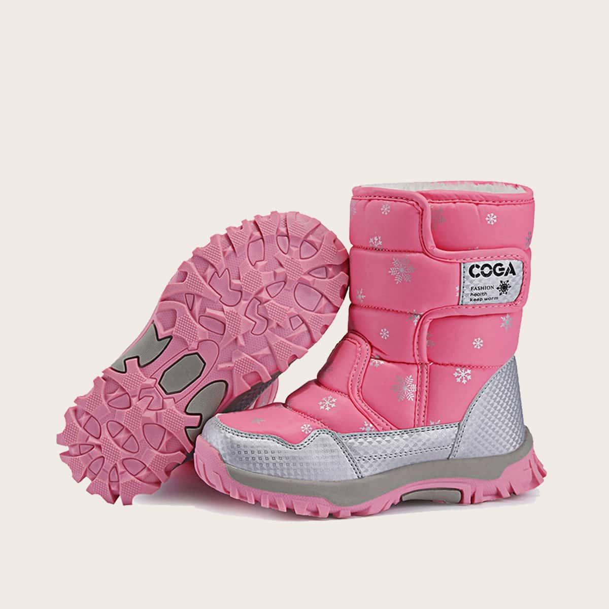 Без замка геометрический принт детские ботинки