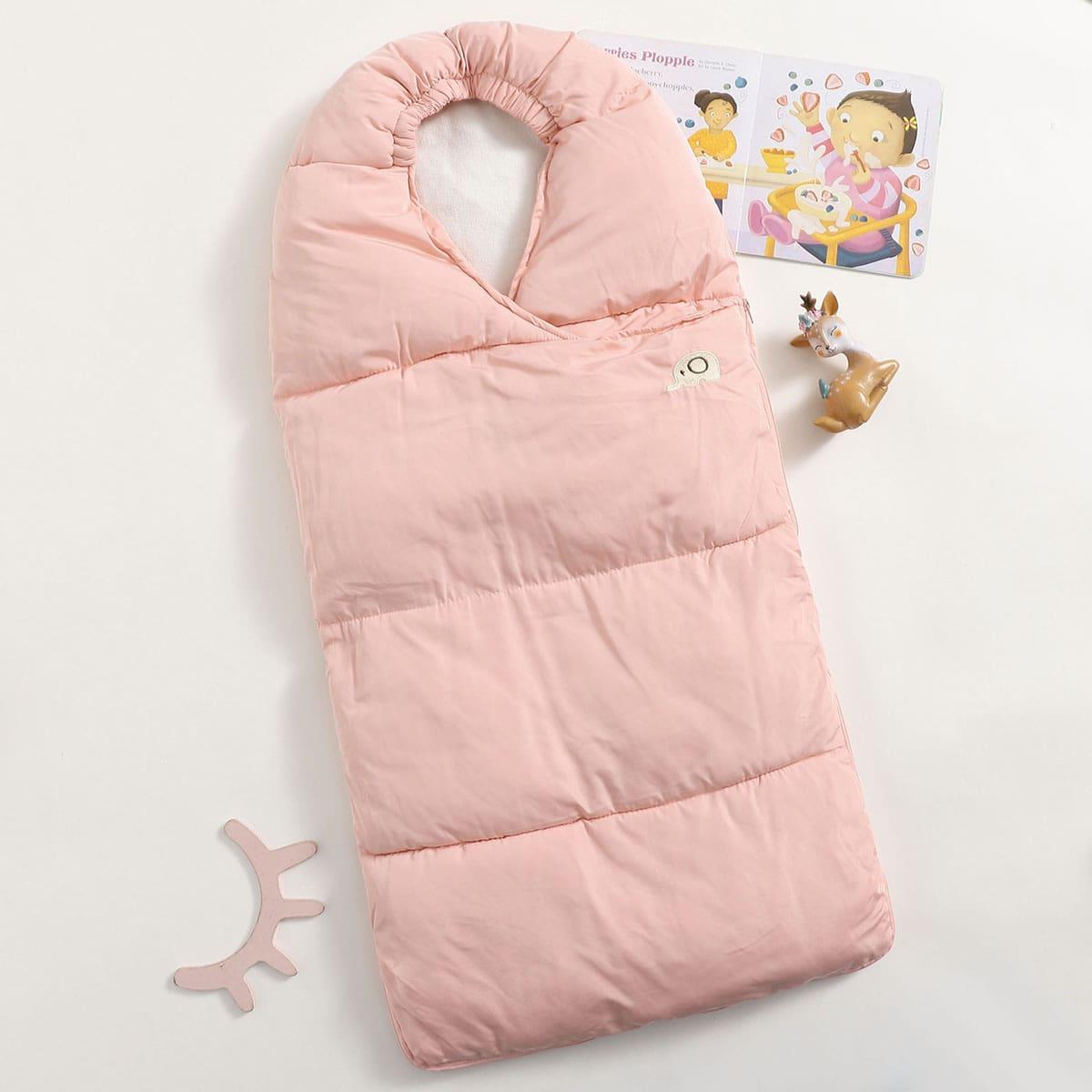 С вышивкой мультяшный принт спальный мешок для малышей