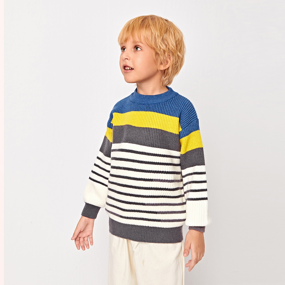 Полосатый повседневный свитеры для мальчиков